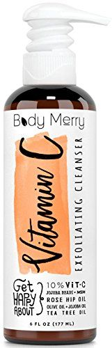 Vitamin C Exfoliating Cleanser- Daily Anti-Aging Face Wash w 10% Vitamin C to Unclog Pores & Deep Clean Dirt, Oil & Grime - Packed with Jojoba   Best Natural Rosehip & Tea Tree Oils to help w Acne... *** Want to know more, click on the image.