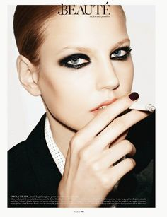 The French smoky eye.