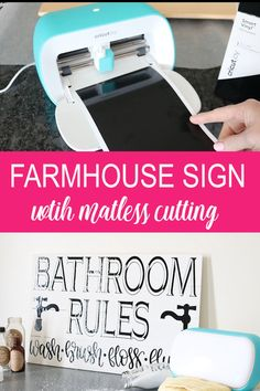 The matless cutting feature allows you to make BIG signs with the small Cricut Joy! Get the cut file for this one and make it for yourself! videos headboard Farmhouse Sign with the Cricut Joy Cricut Ideas, Cricut Tutorials, Ideas For Cricut Projects, Cricut Vinyl Projects, Diy Projects To Try, Proyectos Cricut Explore, Vinyle Cricut, Cricut Explore Projects, Cricut Explore Air