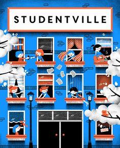 Studentville on Behance