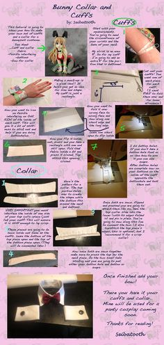 Bunny Suit Collar and Cuffs DIY cosplay tutorial Cosplay Diy, Halloween Cosplay, Cosplay Ideas, Halloween Ideas, Costume Tutorial, Diy Tutorial, Diy Costumes, Cosplay Costumes, Mardi Gras
