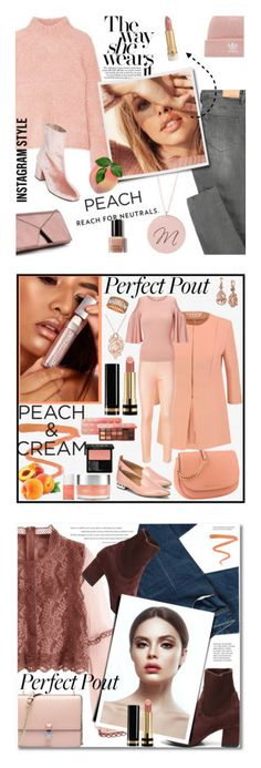 """""""Winners for She's a Peach: Peach Lipstick"""" by polyvore ❤ liked on Polyvore featuring Ulla Johnson, adidas, Bobbi Brown Cosmetics, Free People, peachlipstick, sincerelysilver, Ellis Faas, Gucci, Marni and Too Faced Cosmetics"""
