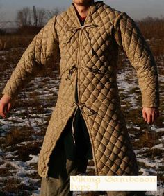 """Padded Gambeson a common type of """"padded"""" armor used by common infantry the world over, this example looks akin to medieval German and Roman versions."""