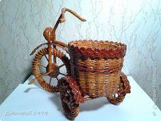 Поделка изделие 8 марта Плетение ВелоКашпо Трубочки бумажные фото 2