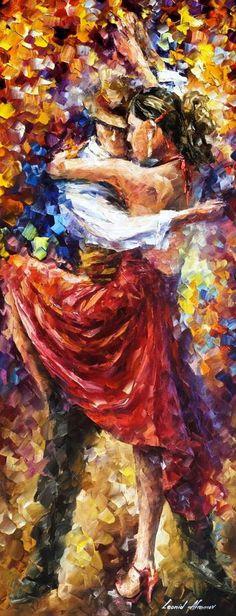 Tango Of Movement - Obra de Leonid Afremov