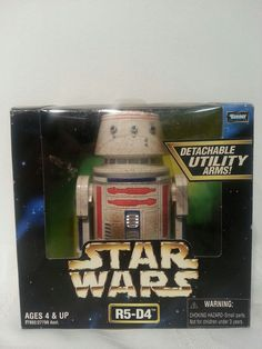 """Star Wars Action Collection R5-D4 6.5"""" Droid Fully Poseable with Retractable Leg #Hasbro"""