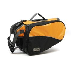 """Kyjen Outward Hound Backpack, Medium ML: I don't think it's for pet carry your own food and water... it's (for me) to make him carry a """"small survival kit""""... so when he finds me dying on the road there will be water pockets, energy bars, a little knife, etc."""