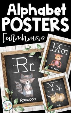 Farmhouse Animal ABC Posters - Printable Alphabet Posters for Classroom - Enjoy this adorable set of printable Farmhouse style ABC posters for your classroom! Each alphabet poster features a chic farmhouse design with an animal. These posters are the perfect addition to your walls and bulletin boards! Great for word walls and high frequency sight words. #abc #kindergarten #alphabet #posters #farmhouse #literacy #elementary #preschool #primary #wordwall Alphabet Posters, Abc Poster, Printable Alphabet, Abc Kindergarten, Kindergarten Literacy, Literacy Centers, Classroom Posters, Classroom Decor, Classroom Resources