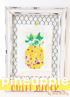Pineapple Mini Quilt block - Red Brolly