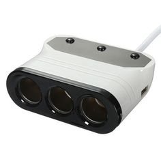 3 Way Car  Lighter Socket Splitter DC Charger Adapter Dual USB Port LED. Feature:  1.this 3 Socket Adapter With Dual Usb Port Charger Is Specially  designed For Convenient Charging On Your Car.  2.practical And Convenient, Easy To Use.  3.suitable For Various Car, Fit Voltage Is 12v/24v.  4.the Red Power Indicator Can Clearly Tell The Power Is Turned On.    specification:  1.color: Black&white  2.material: Abs(acrylonitrile Butadiene Styrene)  3.size: 9.6x7.5x3.5cm  4.cable Length: 73cm…