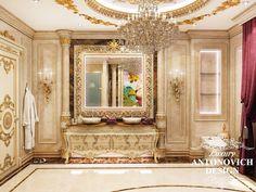 Рескпектабельный интерьер ванной комнаты