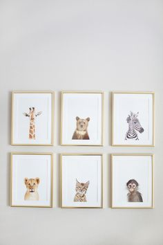 African Safari Inspired Nursery Art | On SMP Living | Photography: Sarah Kate Photo