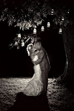 Southern Barn Outdoor Wedding love the pictures at night!
