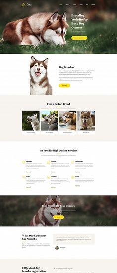 Pupper - Dogs Breeder Premium Moto CMS 3 Template
