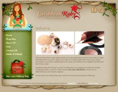 Caribbean Ruby provides all natural cosmetics at an affordable price. We went ahead and designed a peaceful yet eye-catching layout with pops of red and green to represent their natural brand. http://caribbeanruby.com/