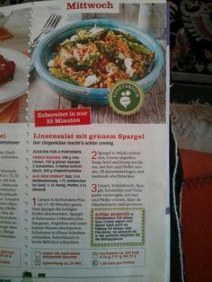 Linsensalat mit grünem Spargel