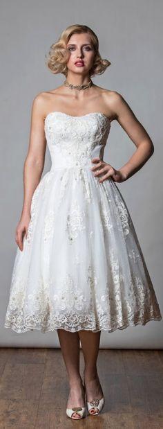 Rita Mae Tea Length Wedding Dress 2017