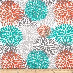 Premier Prints Indoor/Outdoor Blooms Pacific