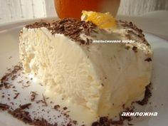 Кулинарные рецепты от Лики: Апельсиновое парфе 4 куриных яйца, (предварительно перед пользованием яйца замачиваю в содовой воде )или заменить на перепелиные 15 шт.(они не подвержены сальмонеллезу). Белки отделить от желтков 2 ст. ложки тертой апельсиновой цедры 150 гр. сахара 500 мл сливок для взбивания 2 ст. ложки. апельсинового ликера
