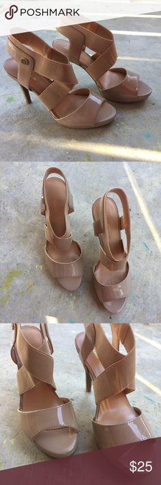 Liz Claiborne Nude Pumps  Strappy heels. These are gorgeous. Never been worn. New without box. Make offers! I almost always accept! Liz Claiborne Shoes Heels