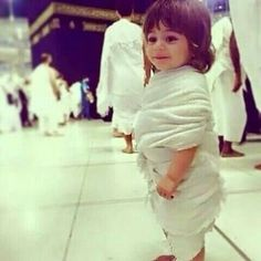 A Boy (Muslim) Near al-Ka`'bah' in al-Masjid al-`Haraam (Al-Mamlakah' al-`Arabiyyah' a-Ssu`uudiyyah', al-`Hijaaz) (Photograph) Cute Little Baby, Cute Baby Girl, Baby Love, Cute Babies, Baby Kids, Beautiful Children, Beautiful Babies, Cutest Babies Ever, Cute Baby Wallpaper