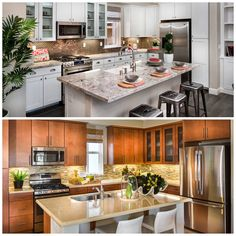 Which kitchen do you prefer? Top or bottom?   #design #decoratingtips #luxmoment #divine #kitchen #cuisine #island #creative #instafood #paradise #pretty #house #furniture #glam #fashion #glamlife #kitchentable #friday #fancy #glamour #glamorous #foodie #food #recipe #chef #ratemykitchen #top10 #nofilter #gourmet #home