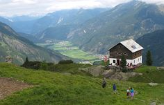 Hike to Hahlkogelhaus, a hut above Längenfeld in Ötztal valley. The cheese dumplings are delicious! Felder, Dumplings, Austria, To Go, Hiking, Cheese, Mountains, Places, Holiday