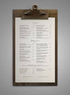 Art of the Menu: 50 Examples of Brilliant Menu Design - Airows