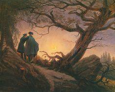 Caspar David Friedrich - Zwei Männer den Mond betrachtend