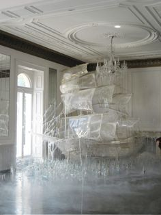 vectate:    rosettes:    Ice ship sculpture created by set designer and art director Rhea Thierstein | Shot by Tim Walker    Holy fuck