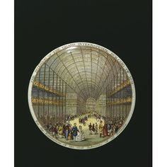 Earthenware, transfer-printed with a view of the interior of the Crystal Palace which housed the Great Exhibition of Museum Number Hall Pottery, Queen V, Palace London, British Things, Up Book, Pot Lids, The V&a, Crystal Palace, World's Fair