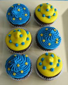 Cupcake Frosting, Cupcake Cakes, Blue Cupcakes, Minions, Minion Party, Ideas Para Fiestas, Cake Cookies, Donuts, First Birthdays