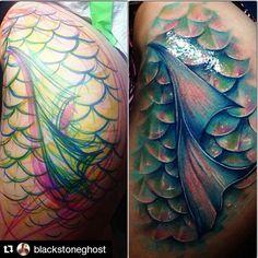 Mermaid Scale Tattoo