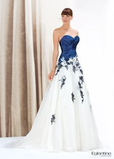 The FashionBrides is the largest online directory dedicated to bridal designers and wedding gowns. Denim Wedding Dresses, Wedding Dress Organza, Colored Wedding Dresses, Wedding Attire, Bridal Dresses, Wedding Gowns, Strapless Dress Formal, Bridesmaid Dresses, 2017 Wedding