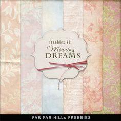 Far Far Hill: Freebies Kit of Background - Morning Dreams