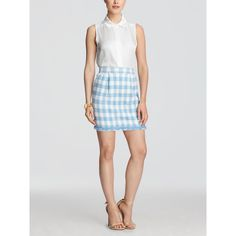 Draper James - Gingham Gilmore Skirt ($85) ❤ liked on Polyvore featuring women's fashion, skirts, mini skirts, short mini skirts, multi color skirt, multicolor skirt, mini skirt and colorful skirts