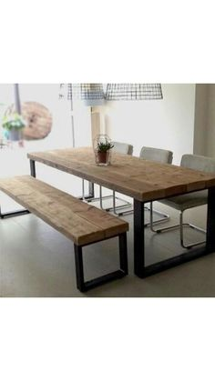 Today we bring you the best Dining Room Lighting Ideas to inspire you with different dining room lamps from contemporary lighting to modern lighting. Dining Room Lamps, Dining Room Lighting, Dining Room Design, Dining Table, Diy Table, Dining Rooms, Home Furniture, Furniture Design, Industrial Dining