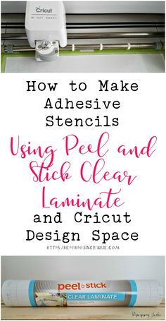 Circut Vinyl: If you've ever wondered if you can make adhesive stencils using a clear laminate, the answer is yes! I will be sharing How to Make Adhesive Stencils Using Peel and Stick Clear Laminate and Cricut Design Space. Adhesive Stencils, Cricut Stencils, Cricut Vinyl, Cricut Air, Printable Stencils, Stencil Diy, Tips And Tricks, Mason Jar Crafts, Mason Jar Diy