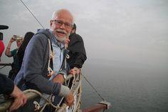 Pastor Jim enjoying the boat ride!