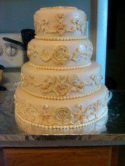 50th Wedding Anniversary Cake I made
