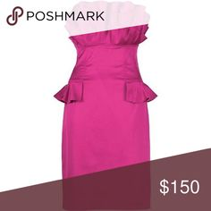 Ted Baker dress Beautiful Fuschia/pink Ted baker dress in satin. Great condition. Only worn once. Great for a holiday Christmas party. It's marked size 0 but equivalent to US 2. Ted Baker Dresses Mini