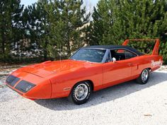 """The very popular Camrao A favorite for car collectors. The Muscle Car History Back in the and the American car manufacturers diversified their automobile lines with high performance vehicles which came to be known as """"Muscle Cars. American Muscle Cars, Plymouth Superbird, Dodge Charger Daytona, Car Man Cave, Old School Cars, Pony Car, Sexy Cars, Chevrolet Camaro, Cool Cars"""