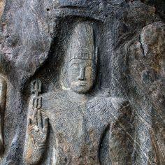 Buduruwagala Rock Carving, Sri Lanka (www.secretlanka.com) Mahayana Buddhism, Sri Lanka, Carving, Rock, Wood Carvings, Skirt, Sculptures, Locks, The Rock