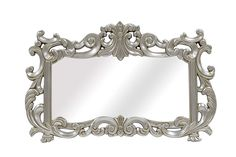 pin it for later. Read more on french country bathroom accessories. The LaRue Mirror is a traditional and decorative accent wall mirror to be hung horizontally. Its beautiful silver finish is a compliment to a variety of decorating styles and palettes. Perfect to hang above a living room sofa or over a dining room buffet table, or entryway table. #frenchcountrybathroomaccessories