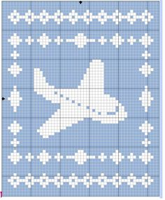 Filet Airplane Blanket Crochet Pattern - The Lavender Chair