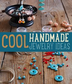 How To Make Handmade Jewelry | Cool Homemade Jewelry Making Tutorials #DIYready http://diyready.com/diy-handmade-jewelry-ideas-bracelets-necklaces-and-more/