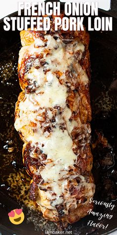 So impressive that guests will be BEGGING for the recipe! - - So impressive that guests will be BEGGING for the recipe! Food Melted cheese and perfectly caramelized onions are packed into this tender and juicy French Onion Stuffed Pork Loin. Pork Tenderloin Recipes, Pork Chop Recipes, Chicken Recipes, Recipes For Pork Loin, Sauce For Pork Tenderloin, Pork Tenderloin Marinade, Game Recipes, Sausage Recipes, Spareribs