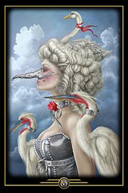 Oracle of Visions by Ciro Machetti -- I pulled this card out of the deck recently to display in my work space.  LTM