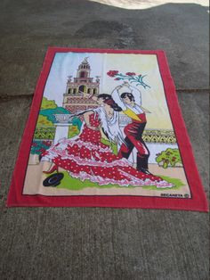 Large Vintage Flamenco Dancers Beach Towel Novelty Towel by MaryAliceFeltLikeIt on Etsy https://www.etsy.com/listing/230155225/large-vintage-flamenco-dancers-beach