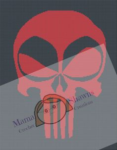 The Punisher - Written Pattern, Grpahghan, Superhero, Villian by MamaShawns on Etsy